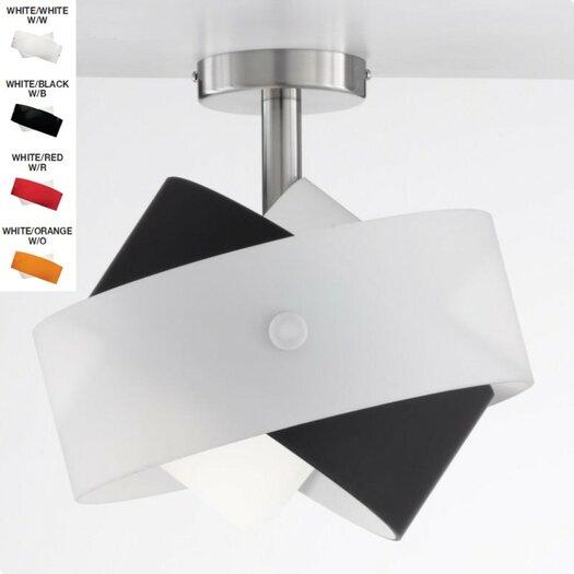 Zaneen Lighting Tourbillon One Light Semi Flush Mount  /  Wall Sconce in Nickel