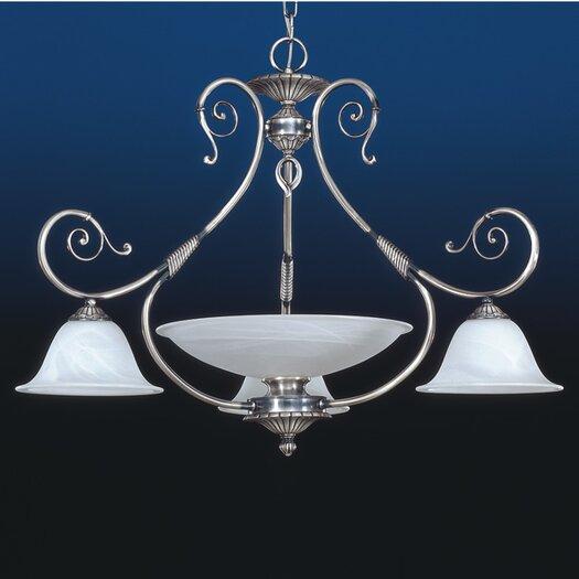 Zaneen Lighting Alava II Four Light Traditional Chandelier in Silver Oxide