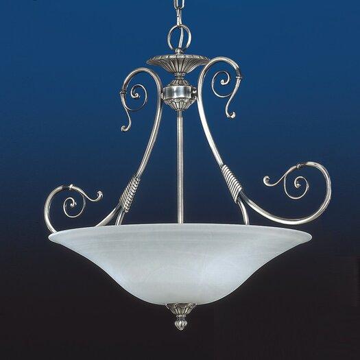 Zaneen Lighting Alava II Traditional Pendant in Silver Oxide