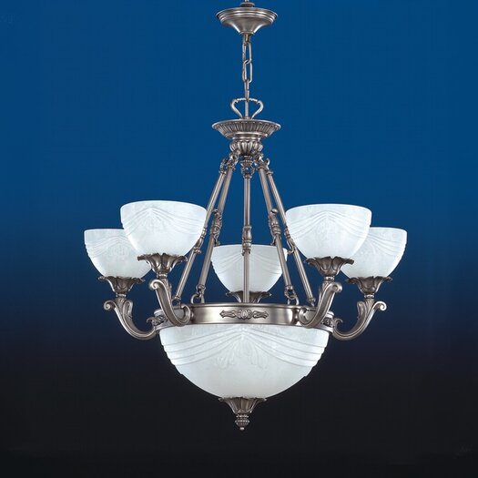 Zaneen Lighting Granada Traditional Chandelier in Pewter