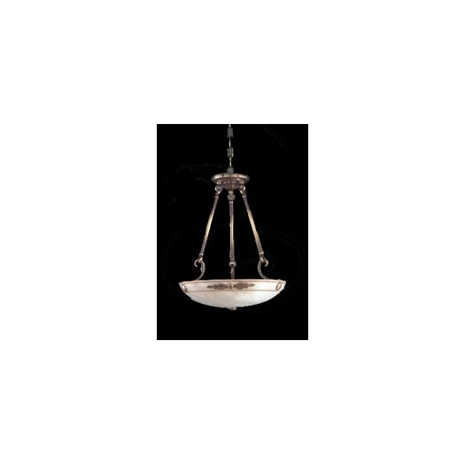 Zaneen Lighting Castella Traditional Pendant in Antique Brass