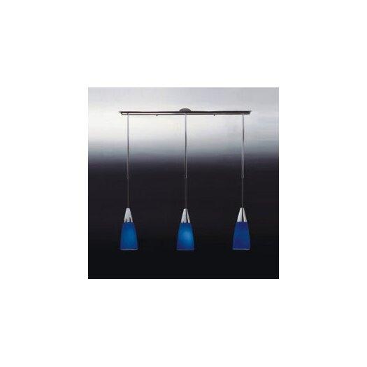 Zaneen Lighting Conus Three Light Pendant in Blue