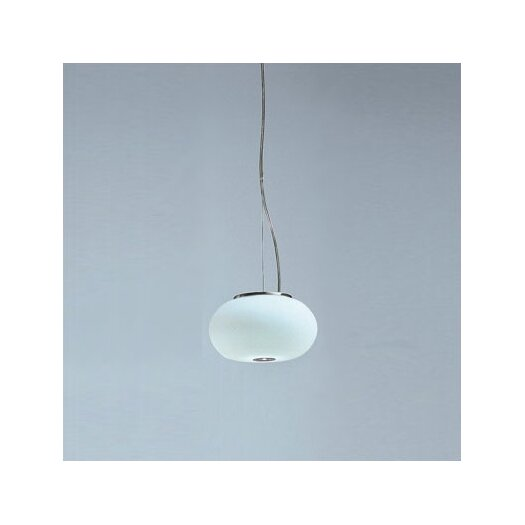 Zaneen Lighting Blow Small Single Light Pendant in Nickel
