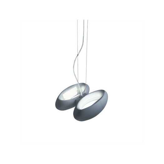 Zaneen Lighting Loop Two Light Pendant in Metallic Gray