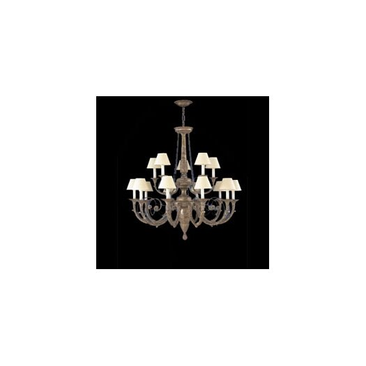 Zaneen Lighting Menorca Traditional Chandelier in Ancient Silver