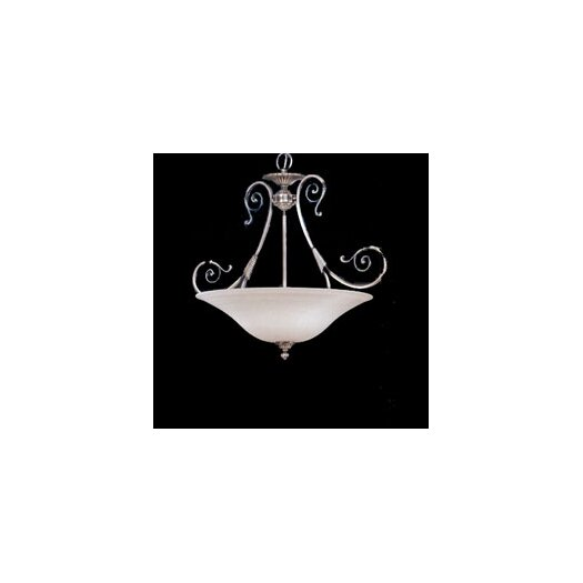 Zaneen Lighting Alava II Traditional Pendant in Silver Oxide