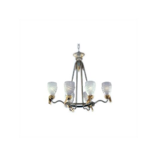 Zaneen Lighting Parma Chandelier in Vintage SIlver