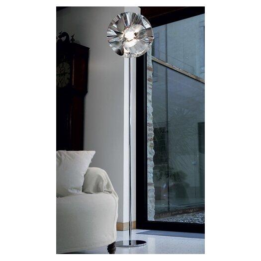 Zaneen Lighting Floral Floor Lamp