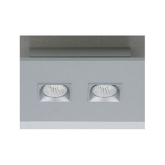 Zaneen Lighting Polifemo Two Light Flush Mount with White Glass