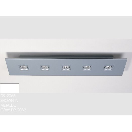 Zaneen Lighting Polifemo Five Light Flush Mount with White Glass