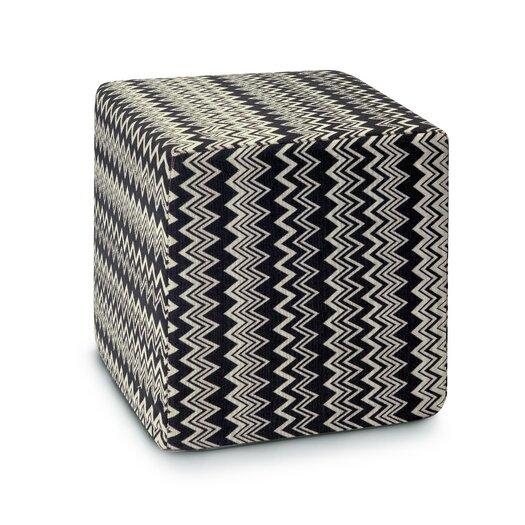Missoni Home Master Moderno Trevira Orvault Pouf Cube Ottoman