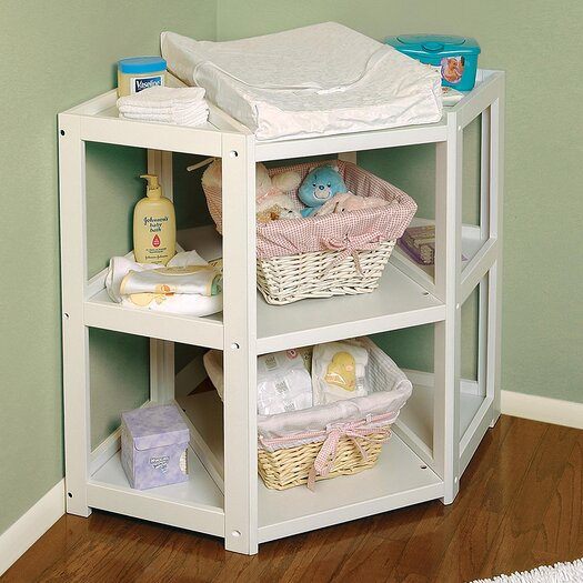 Badger Basket Diaper Corner Baby Changing Table