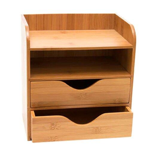 Lipper International Bamboo 4 Tier Desk Organizer