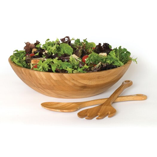 Lipper International Bamboo Salad Bowl 3 Piece Set