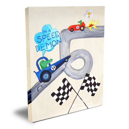 Cici Art Factory Words of Wisdom I'm a Speed Demon Canvas Art
