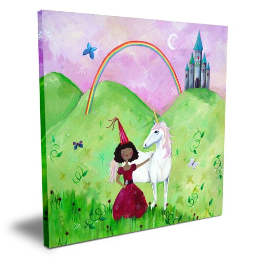 Cici Art Factory Wit & Whimsy African American Princess Canvas Art