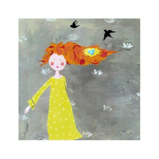 CiCi Art Factory Wit & Whimsy Bird's Nest Canvas Art