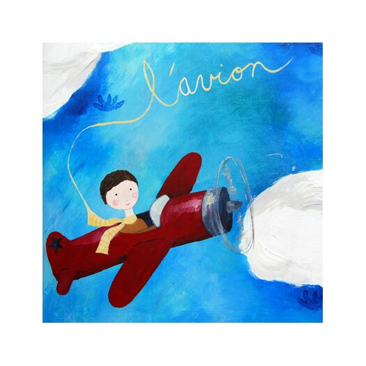 Cici Art Factory Wit & Whimsy L'Avion Canvas Art