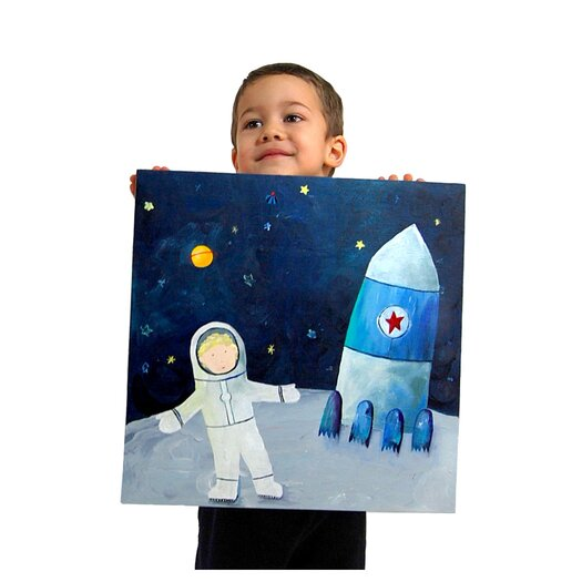 CiCi Art Factory Man on the Moon Paper Print
