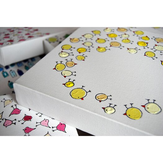 CiCi Art Factory Lotsa Organized Chicks Original Canvas Art