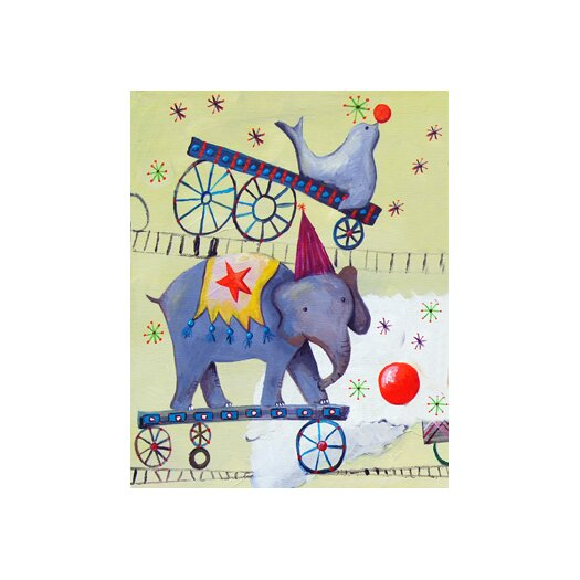 Circus Train Elephant Paper Print