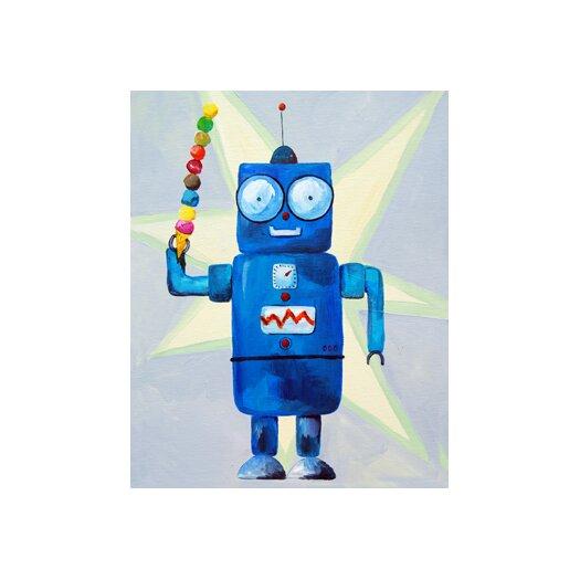 CiCi Art Factory Patchwork Dimdat Love Ice Cream Robot Canvas Art