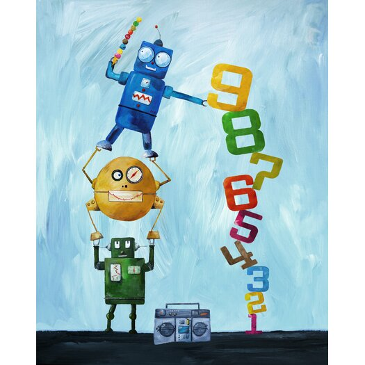 Cici Art Factory Robots Love Numbers Giclée Canvas Art