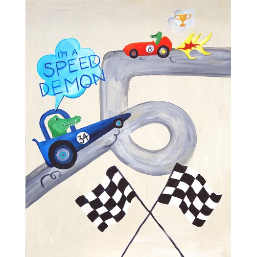 Cici Art Factory Words of Wisdom I'm a Speed Demon Paper Print