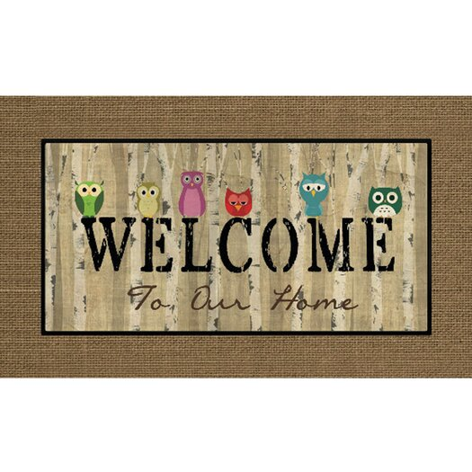 Apache Mills Masterpiece Owl Welcome Mat