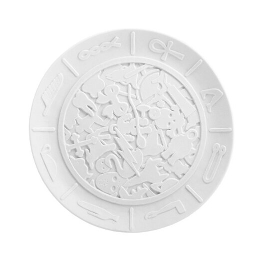 "Makkum Biscuit by Studio Job 10"" Coded Message Plate"