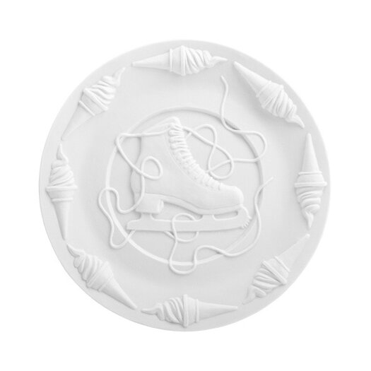 "Makkum Biscuit by Studio Job 10.63"" Lace Undone Plate"