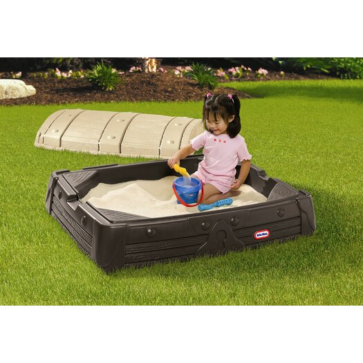 Little Tikes Hidden Treasure 4' Rectangular Sandbox with Cover