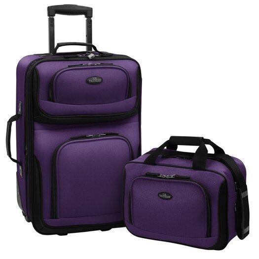 Traveler's Choice Rio 2 Piece Expandable Luggage Set