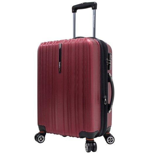 """Traveler's Choice Tasmania 21"""" Expandable Hardshell Spinner Suitcase I"""