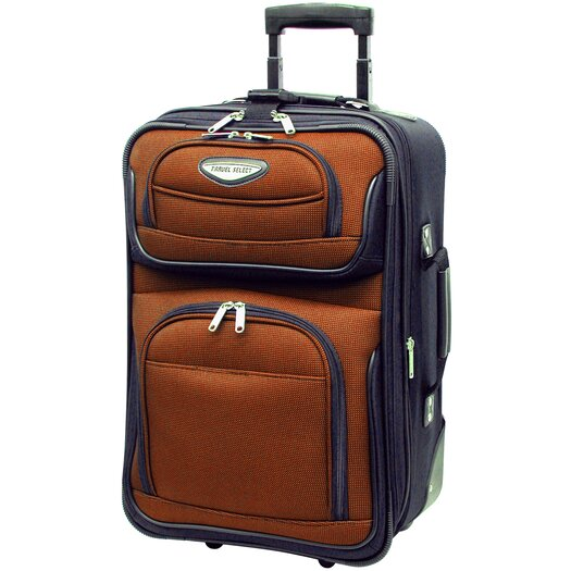 """Traveler's Choice Amsterdam 21"""" Expandable Rolling Carry On II"""
