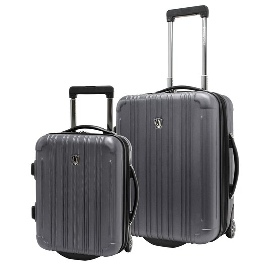Traveler's Choice New Luxembourg 2 Piece Hardsided Spinner Carry-On Luggage Set