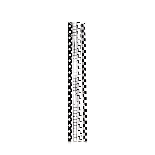 Box of 144 Black and White Checkered Paper Straws