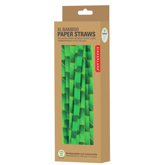 Paper Bamboo Straws Large Bamboo Paper Straws