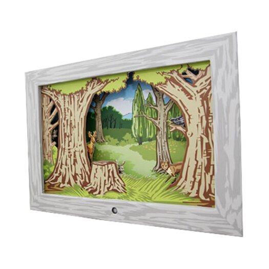 Kikkerland Woodland Diorama Scene Framed Art