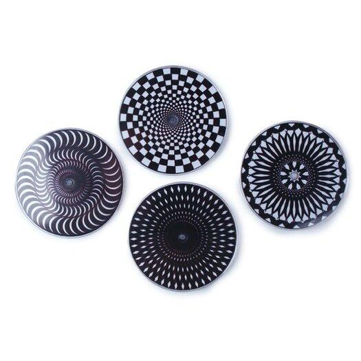 Kikkerland Moire Coaster in Black/White