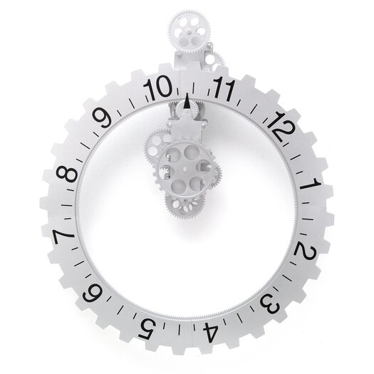 Kikkerland Big Wheel Hour Wall Clock