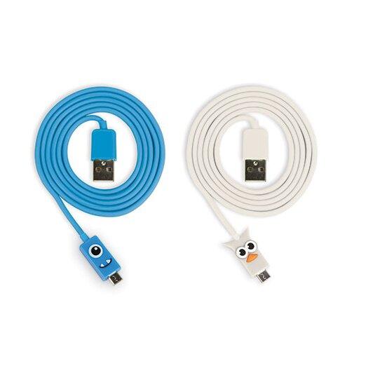 Kikkerland Micro USB Owl and Blue Kooky Cables