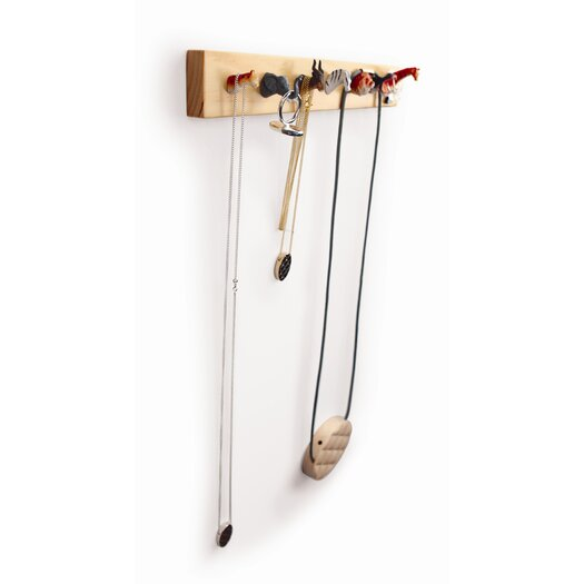 Kikkerland Pack Rack Wall Mounted Jewelry Holder