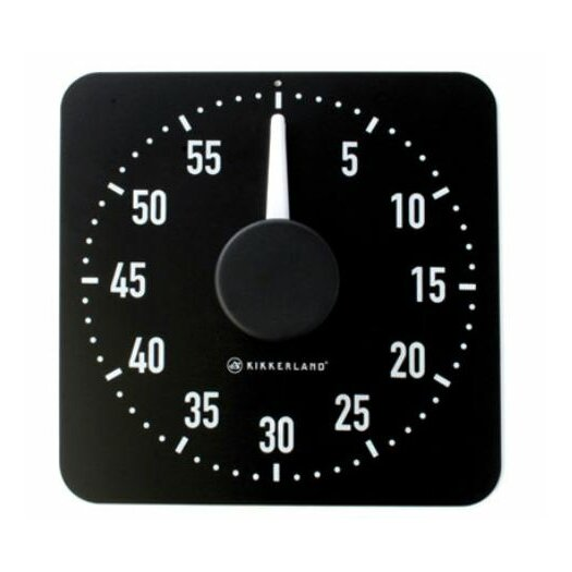 Kikkerland Kitchen Timer in Black