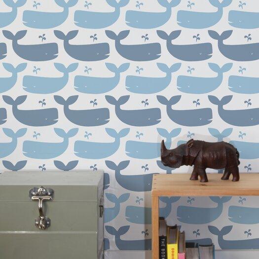 Aimee Wilder Designs Whales Wallpaper Sample