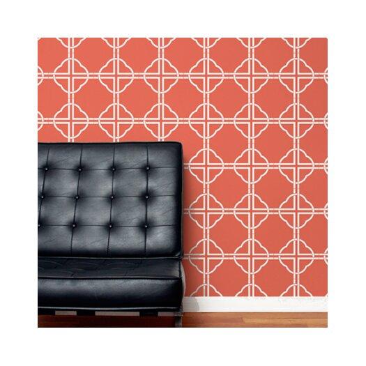 Aimee Wilder Designs Asian Trellis Wallpaper
