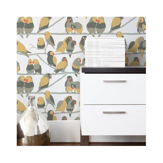 Aimee Wilder Designs Lovebirds Wallpaper