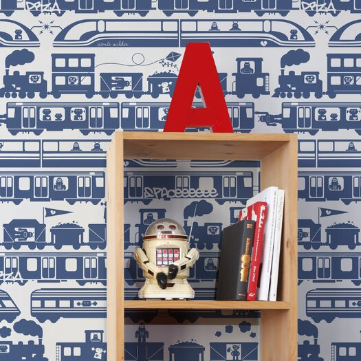 Aimee Wilder Designs Robo Rail Wallpaper