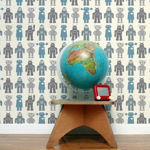 Aimee Wilder Designs Robots Wallpaper