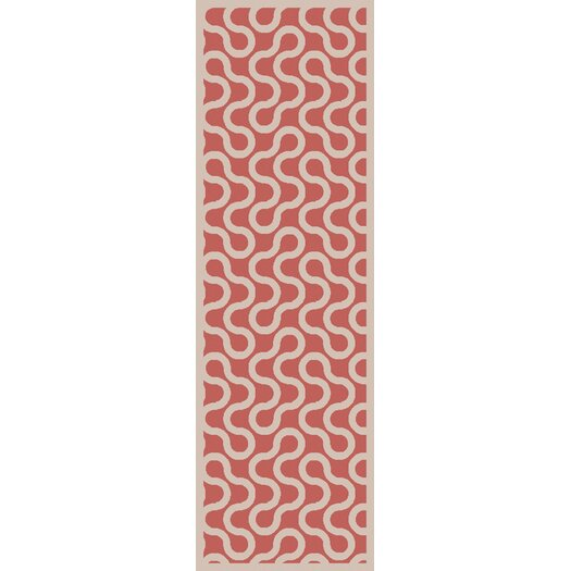 Native Coral/Ivory Geometric Rug